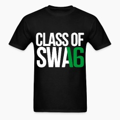 CLASS OF SWAG (2016) Green with no bands T-Shirts