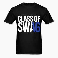 CLASS OF SWAG (2016) blue with no bands T-Shirts
