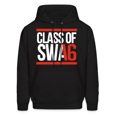 CLASS OF SWAG (2016) red with bands Hoodies
