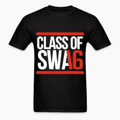 CLASS OF SWAG (2016) red with bands T-Shirts
