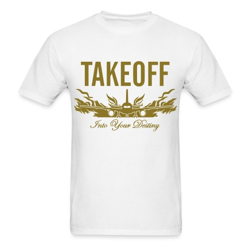 Takeoff Into Your Destin Metallic Gold  - Men's T-Shirt