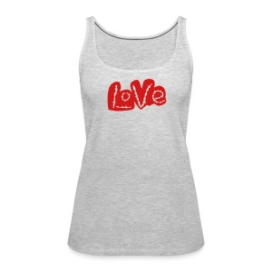 Love barbed wire heart - Women's Premium Tank Top