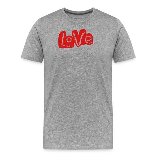 Love barbed wire heart - Men's Premium T-Shirt