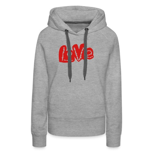 Love barbed wire heart - Women's Premium Hoodie