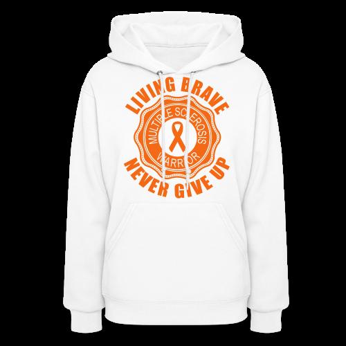 MS Warrior - Women's Hoodie (Orange) - Women's Hoodie
