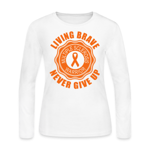 MS Warrior - Women's Long Sleeve (Orange) - Women's Long Sleeve Jersey T-Shirt