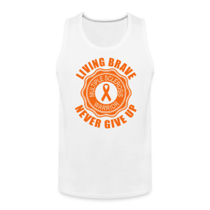 MS Warrior - Men's Tank Top (Orange) - Men's Premium Tank