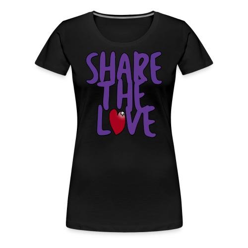 Share the Love Women's Cut T-Shirt - Women's Premium T-Shirt