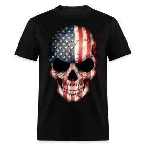 AMERICAN FLAG SKULL T-SHIRT - Men's T-Shirt