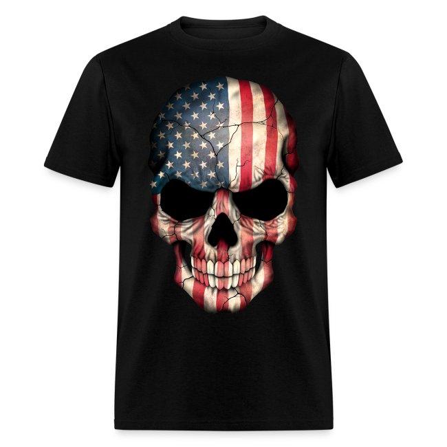 pygod com american flag skull t shirt mens t shirt