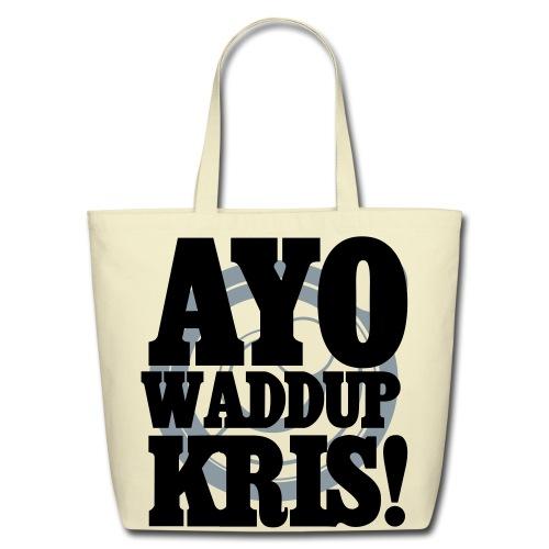 [EXO] AYO WADDUP KRIS! - Eco-Friendly Cotton Tote
