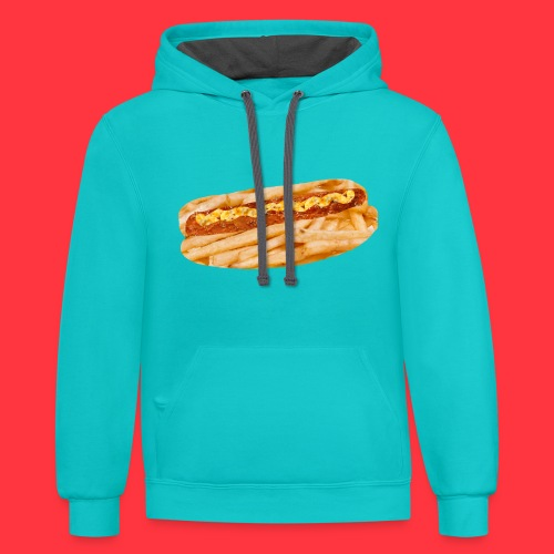 Red Hot chili cheese fries hoodie - Contrast Hoodie
