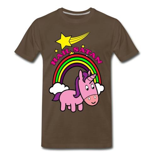 Hail Satan - Cute - Men's Premium T-Shirt