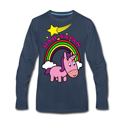 Hail Satan - Cute - Men's Premium Long Sleeve T-Shirt