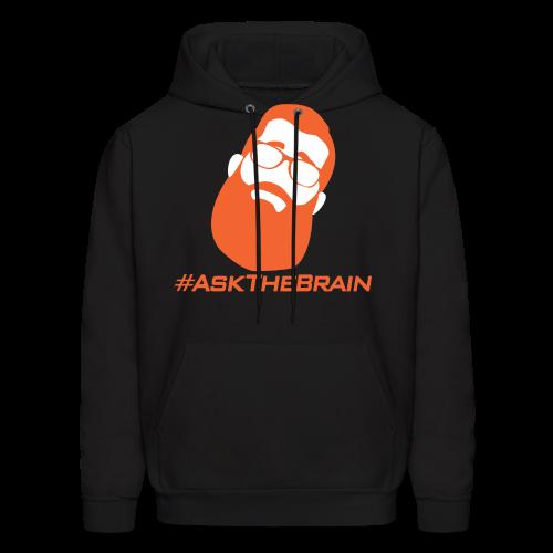 #AskTheBrain Black Hoodie - Men's Hoodie