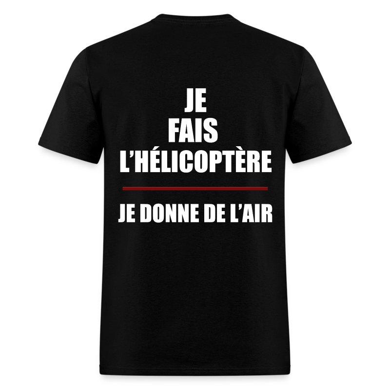 T-shirt hélicoptère - T-shirt pour hommes