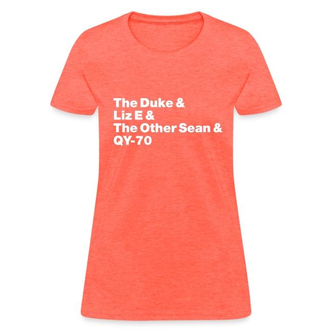 Old-school lineup Ladies' shirt