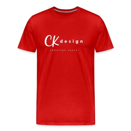 Premium Logo Tee with URL - Men's Premium T-Shirt
