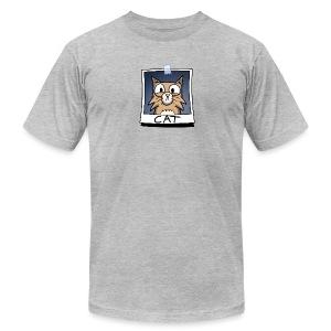 Men's Fine Jersey T-Shirt - webcomic,photo,loadingartist,loading,gregor,czaykowski,comic,cat,artist