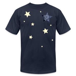 Men's Fine Jersey T-Shirt - webcomic,stars,stargazer,star,loadingartist,loading,gregor,gazer,czaykowski,creepy,comic,artist