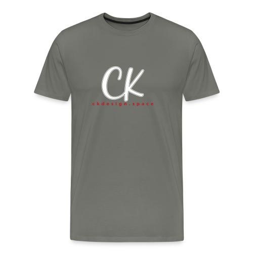 CK Gray Stripe - Men's Premium T-Shirt