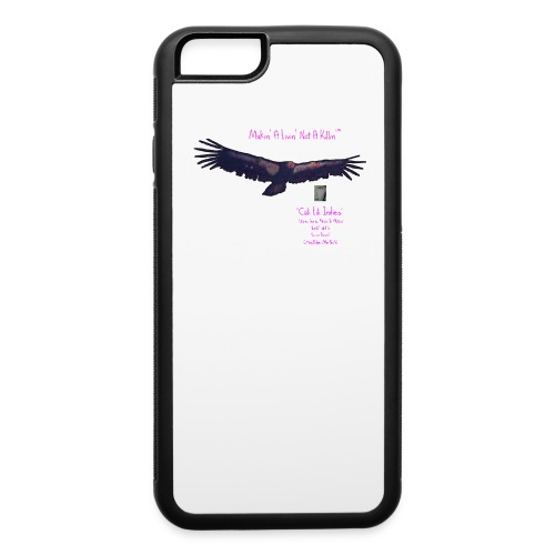 CaliLiliCondor™ MakinALivinNotAKillin™ iPhone6/6s Case TEEclipse/BlackLongSleeve/Eclipse2017OutlineCondor ©CaliLili™feMt0™studi0 All Rights Reserved  - iPhone 6/6s Rubber Case