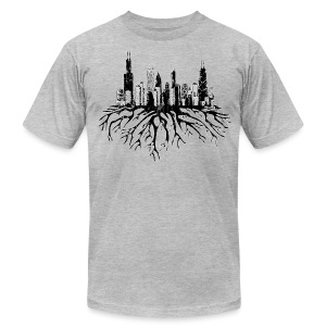 Chicago Skyline Roots - Men's T-Shirt by American Apparel