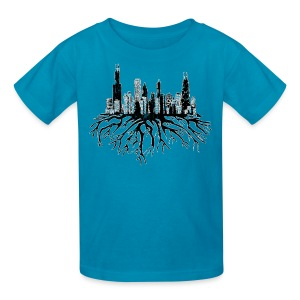 Chicago Skyline Roots - Kids' T-Shirt