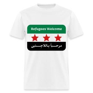 Refugees Welcome Men's T-shirt - Men's T-Shirt
