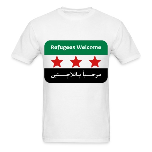 Refugees Welcome Men's T-shirt - Men's T-Shirt