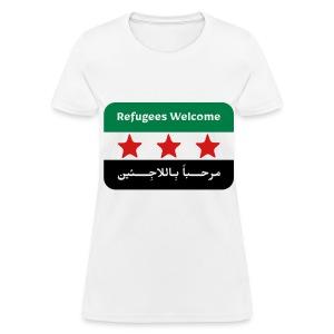 Refugees Welcome Women's T-shirt - Women's T-Shirt