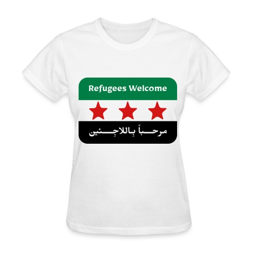 Refugees Welcome Women's T-shirt - Women's T-Shirt