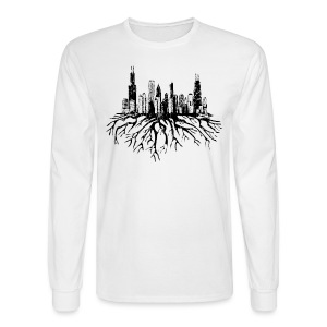 Chicago Skyline Roots - Men's Long Sleeve T-Shirt