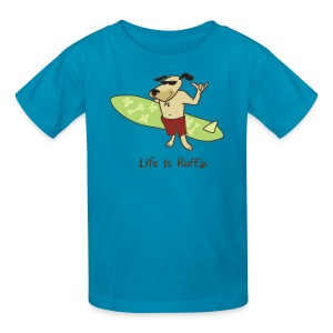 Surfboard Dog - Kids' T-Shirt