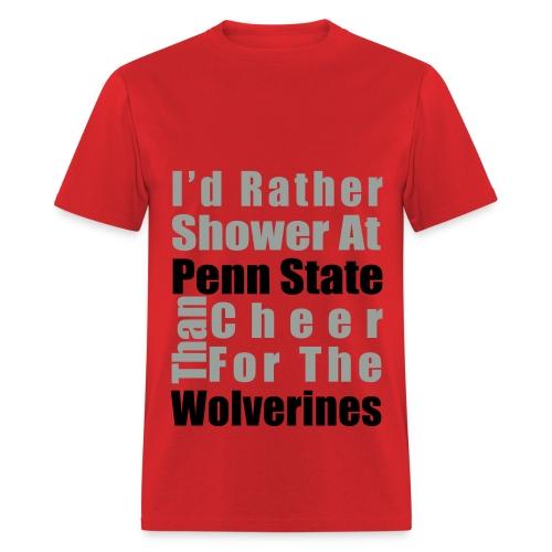 I'd rather shower - Men's T-Shirt