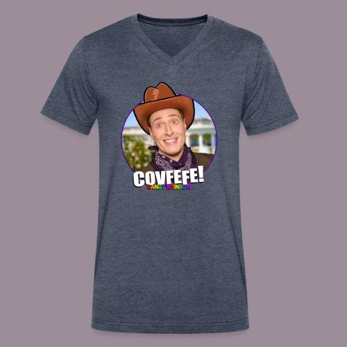 COVFEFE MEN'S V NECK - Men's V-Neck T-Shirt by Canvas