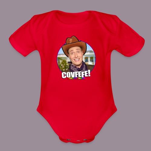 COVFEFE BABY BODYSUIT - Organic Short Sleeve Baby Bodysuit