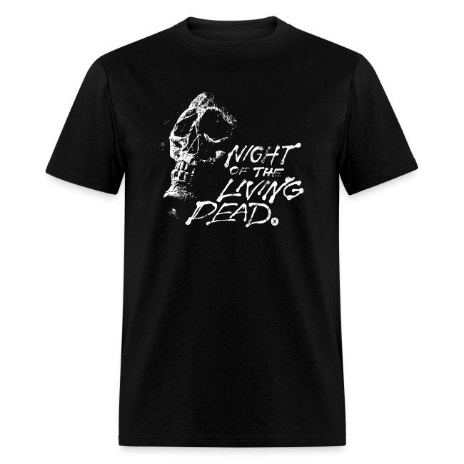Night of The Living Dead Skull Logo Men's T Shirt