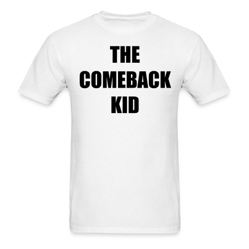 THE COMEBACK BLACK CENTERED 300 IMPACT.png - Men's T-Shirt