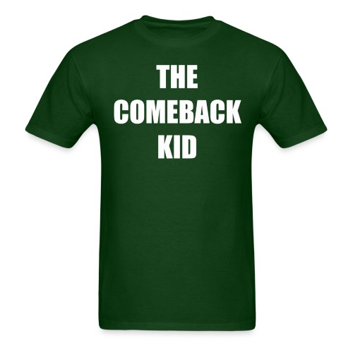 THE COMEBACK WHITE CENTERED 300 IMPACT.png - Men's T-Shirt