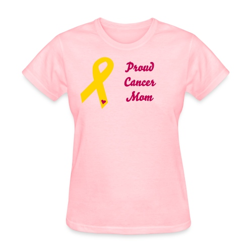 Proud cancer mom - Women's T-Shirt