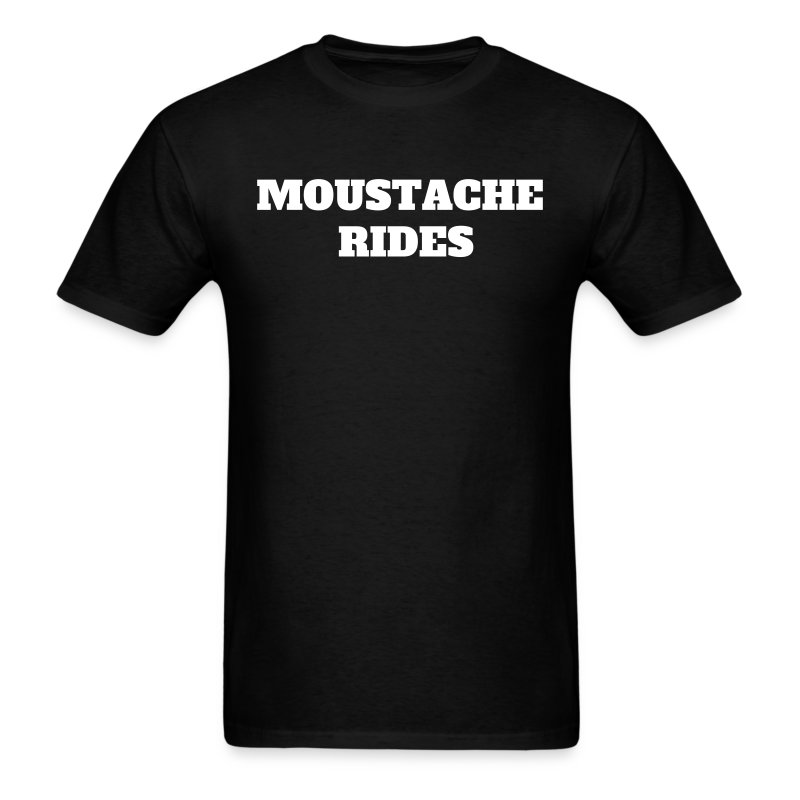 'MOUSTACHE RIDES' T-shirt as worn by Sam Elliott in the movie Mask (1985) - Men's T-Shirt