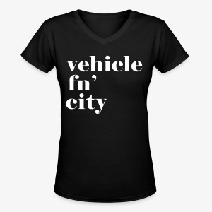 vehicle fn' city - Women's V-Neck T-Shirt