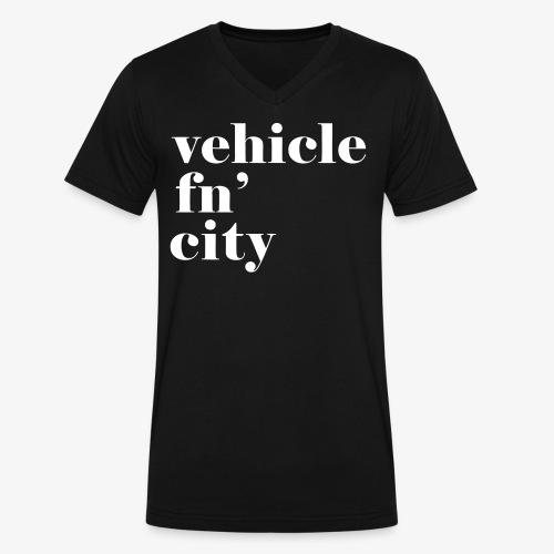 vehicle fn' city - Men's V-Neck T-Shirt by Canvas