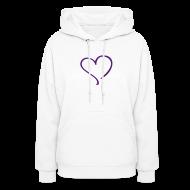 Hoodies ~ Women's Hoodie ~ purple heart
