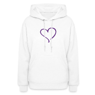 Hoodies ~ Women's Hoodie ~ purple heart