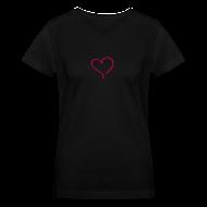 T-Shirts ~ Women's V-Neck T-Shirt ~ heart 2