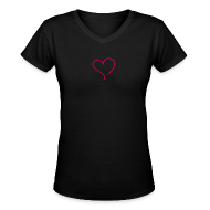 Women's T-Shirts ~ Women's V-Neck T-Shirt ~ heart 2