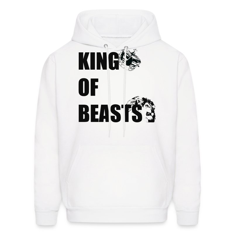 KING OF BEASTS BLACK WITH GRAPHICS.png - Men's Hoodie