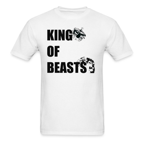 KING OF BEASTS BLACK WITH GRAPHICS.png - Men's T-Shirt